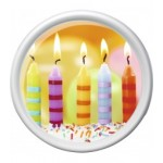 Круглый поднос 30 см. Birthday candles ROTATION Emsa EM512517